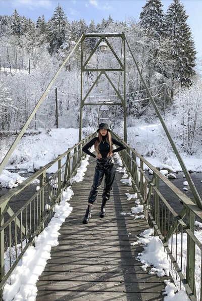 Toller Fotospot im Schnee: Die Brücke am Kirschbaumwasen in Forbach